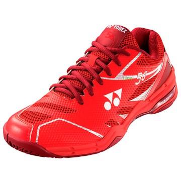 【YONEX】POWER CUSHION 56紅 舒適柔軟輕量羽球鞋