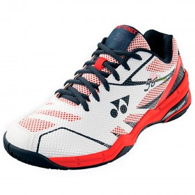 【YONEX】POWER CUSHION 56白紅 舒適柔軟輕量羽球鞋