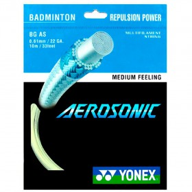 【YONEX】AEROSONIC感受劃破空氣強勁擊球聲高反彈最細羽拍線(0.61mm)
