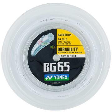 【YONEX】BG65-2 優越的耐用羽拍大盤線(200m)