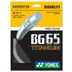 【YONEX】BG65Ti鈦金屬塗層重砲型選手羽拍線(0.70mm)