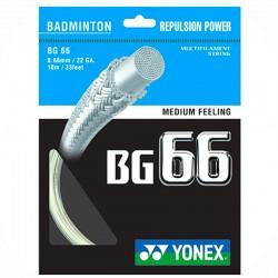 【YONEX】BG66彈性清脆的擊球聲音羽拍線(0.66mm)