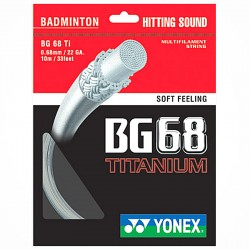 【YONEX】BG68TITANIUM清脆擊球聲音與耐用度二者合一羽拍線(0.68mm)