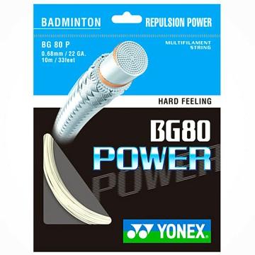 【YONEX】BG80P殺球時的扎實感強攻型選手羽拍線(0.68mm)