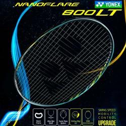 【YONEX】NANOFLARE 800LT黑冰藍 5U輕量細拍框快速扣殺羽球拍
