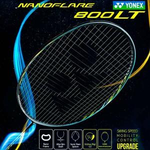 【YONEX】NANOFLARE 800 LT黑冰藍 5U輕量細拍框快速扣殺羽球拍