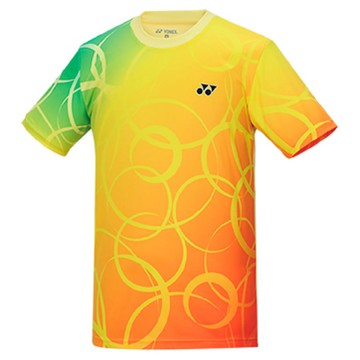 【YONEX】13010TR-279淺黃 專業男款羽球比賽服