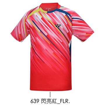 【YONEX】13040TR-639閃亮紅 男款羽球服