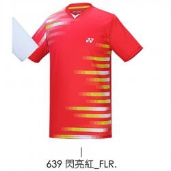 【YONEX】13060TR-639閃亮紅 男款羽球服