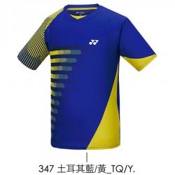 【YONEX】13070TR-347土耳其藍/黃 男款羽球服