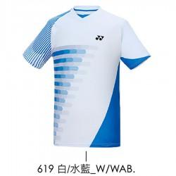 【YONEX】13070TR-619白/水藍 男款羽球服