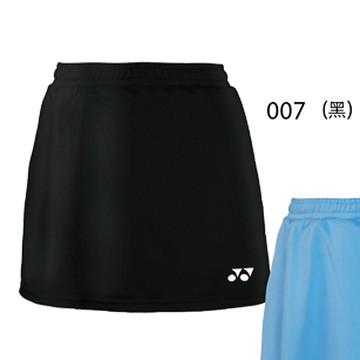 【YONEX】22128TR-007黑 女款素色吸濕排汗羽球褲裙