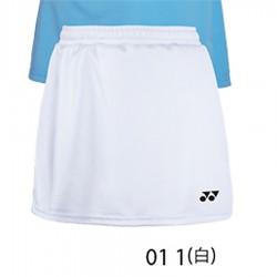 【YONEX】22128TR-011白 女款素色吸濕排汗羽球褲裙