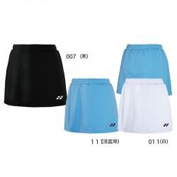 【YONEX】22128TR-111淺藍 女款素色吸濕排汗羽球褲裙