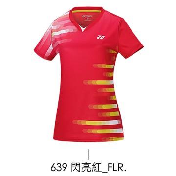 【YONEX】23060TR-639閃亮紅 女款羽球服