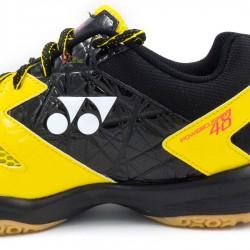【YONEX】POWER CUSHION 48黃黑 標準款羽球鞋