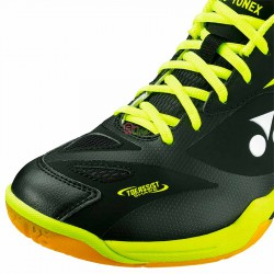 【YONEX】POWER CUSHION 65 X2 WIDE黑螢黃寬楦羽球鞋