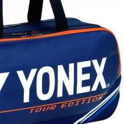 【YONEX】BA92031WEX深丈青藍 矩型雙夾層手提側背拍包