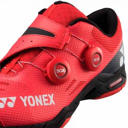【YONEX】POWER CUSHION INFINITY紅 快速綁帶轉轉羽球鞋