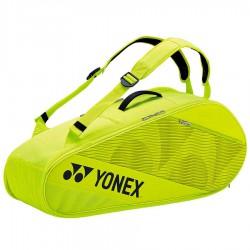 【YONEX】BA82026EX萊姆黃 6支裝雙肩羽拍包