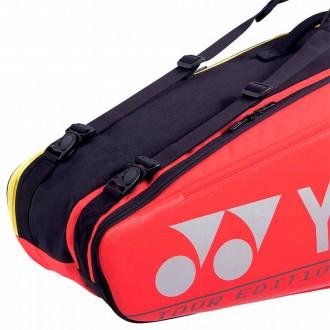 【YONEX】BA92026EX紅 6支裝雙肩羽拍包