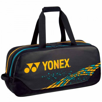 【YONEX】BA92031WEX駱駝金 矩型雙層手提側背拍包