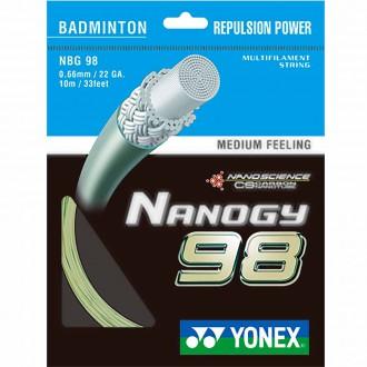 【YONEX】NANOGY 98 俐落擊球感羽拍線(0.66mm)