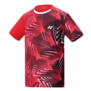 【YONEX】13210TR-639閃亮紅 男款羽球服