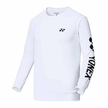 【YONEX】15000TR-011白 男款長袖羽球服