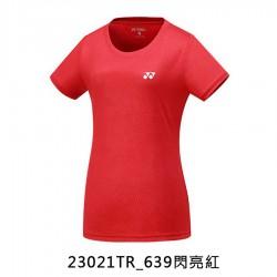 【YONEX】23021TR-639閃亮紅 女款排汗羽球服
