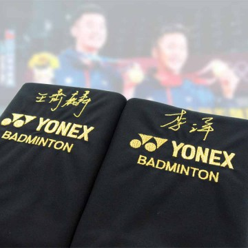 【YONEX】王齊麟,李洋 限量簽名絨毛拍袋(2入/組)
