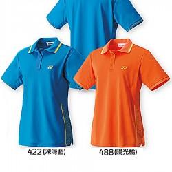 【YONEX】20260女款單色袖口緹花滾邊吸濕排汗POLO衫(三色)