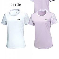 【YONEX】21711-011白 女款吸濕排汗抗菌小立領羽球服(零碼)