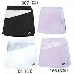 【YONEX】21741女款斜格紋吸濕排汗抗菌褲裙(四色)