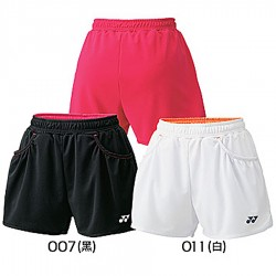 【YONEX】25019女款吸濕排汗跳色短褲(三色)