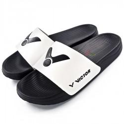 【VICTOR】005S-AC白 品牌時尚拖鞋