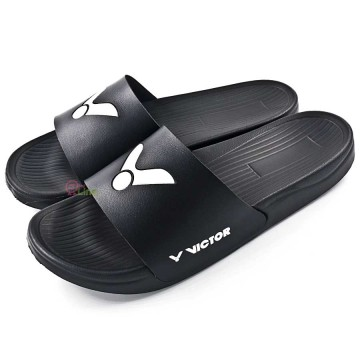 【VICTOR】005S-C黑 品牌時尚拖鞋