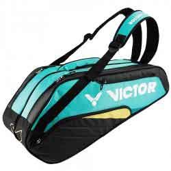 【VICTOR】BR8208-RC鸚鵡粉綠乾濕分離12支裝羽拍包(雙肩)