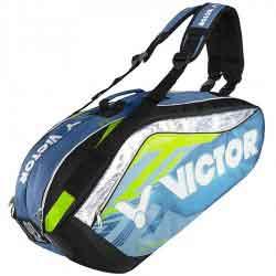 【VICTOR】BR9208-FP深湖藍旗艦12支裝鞋袋隔層羽拍包(雙肩)