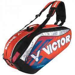【VICTOR】BR9208-OF風火橘 旗艦12支裝鞋袋隔層羽拍包(雙肩)