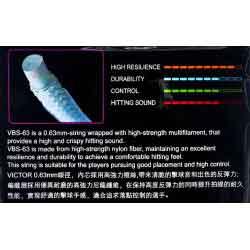 【VICTOR】VBS-63超細線徑清脆擊球音高反彈羽拍線(0.63mm)