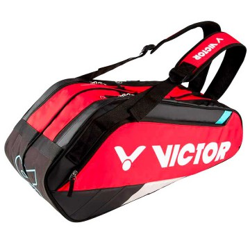 【VICTOR】BR8209DC跑車紅/黑 乾濕分離12支裝羽拍包(雙肩)