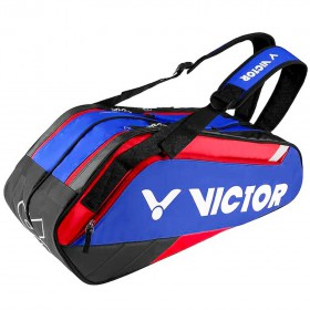 【VICTOR】BR8209FC航海藍/黑 乾濕分離12支裝羽拍包(雙肩)
