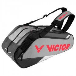 【VICTOR】BR8209HC深灰/黑 乾濕分離12支裝羽拍包(雙肩)