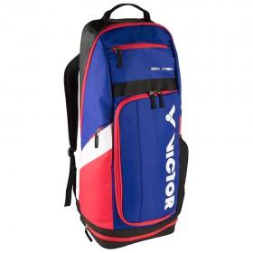 【VICTOR】BR8809FC 藍/黑 雙肩透氣減壓長型羽網球拍後背包
