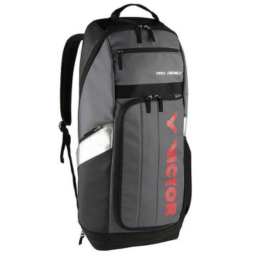 【VICTOR】BR8809HC深灰/黑 雙肩透氣減壓長型羽網球拍後背包