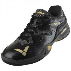 【VICTOR】P8510-CX黑/亮金 避震升級側向穩定比賽級羽球鞋(寬楦)