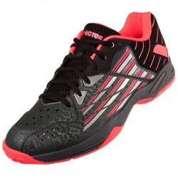 【VICTOR】SH-S62-CQ黑/螢光玫紅 避震高彈速度型專業級羽球鞋