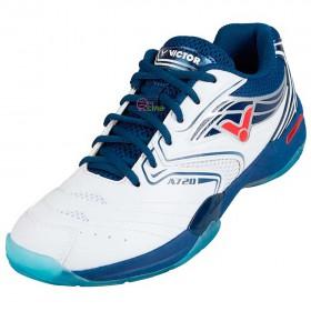 【VICTOR】A720-AB亮白深藍 VSR水晶橡膠鞋底全面型羽球鞋