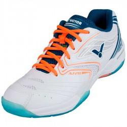 【VICTOR】A720-A亮白 VSR水晶橡膠鞋底全面型羽球鞋